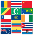 set-of-flags-c vector image
