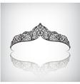 vintage elegant decorated with star crown vector image