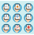 web and internet icon in flat design vector image