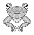 zentangle frog for adult anti stress vector image