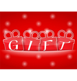 Red Gift Banner vector image
