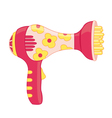 Toy hair dryer vector image vector image