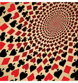 Playing cards Op art vector image