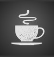 cup of tea or coffee drawn on chalkboard vector image