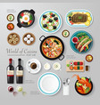 Infographic food business flat lay idea hipster vector image vector image