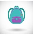 Schoolbag icon vector image