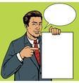 Businessman show poster pop art style vector image
