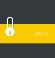 Lock with tape vector image