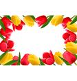 Color spring flower frame vector image vector image
