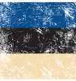 Estonia retro flag vector image vector image