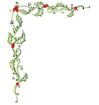 Christmas holly tendril vector image