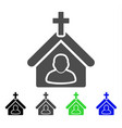 church person flat icon vector image