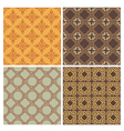 Four decorative symmetric seamless patterns vector image