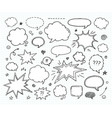 hand drawn set of speech bubbles and arrows vector image