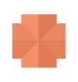 Highly detailed house building top view icon vector image