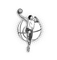 mens basketball vector image