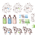 Milk fat sign collection vector image