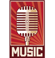 Music poster-microphone vector image