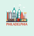 philadelphia travel background vector image