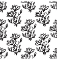 seamless pattern with twig magnolia chinese style vector image