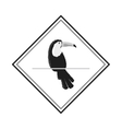 single toucan emblem icon vector image