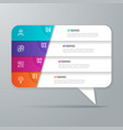 speech bubble shaped infographic design 4 options vector image