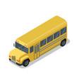 yellow school bus isolated isometric 3d icon vector image