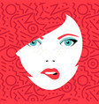 young sexy woman face with fashion make up vector image