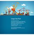 Cargo Seaport Poster Brochure vector image