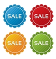 Colorful sale tags with texture collection vector image vector image