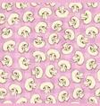 mushroom slices seamless pattern vector image
