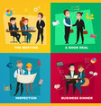 business people concept set vector image