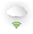 Paper Cloud Computing vector image
