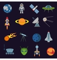 Space and astronomy icons vector image