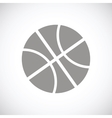 Basketball black icon vector image