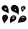 simple ghosts vector image vector image