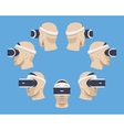 Virtual reality headset vector image