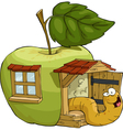 apple house vector image