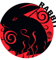 Chinese Horoscope rabbit vector image vector image