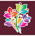 Color flowers vector image