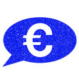euro message grunge icon vector image