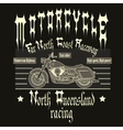 Motorcycle Racing Typography t-shirt vector image