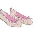 Pink ballet shoes vector image