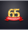 sixty-five anniversary logo template 65th years vector image