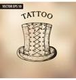 Steampunk tattoo hat vector image