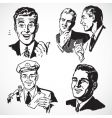retro businessmen vector image vector image