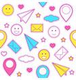 emoticon pattern vector image
