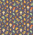 Colorful autumn treasures seamless pattern vector image vector image