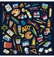 Art and craft symbols and objects vector image
