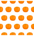 Citrus orange seamless pattern vector image